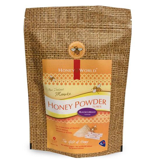 Manuka and Blackcurrant Honey Powder Tubes