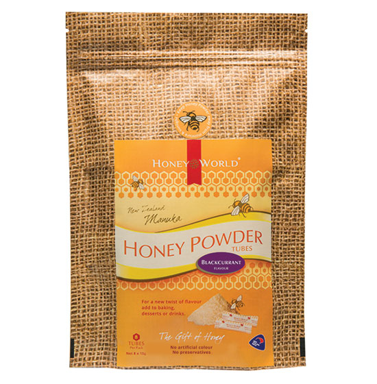 Manuka and Blackcurrant Honey Powder Tubes