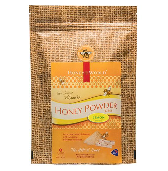 Manuka and Lemon Honey Powder Tubes