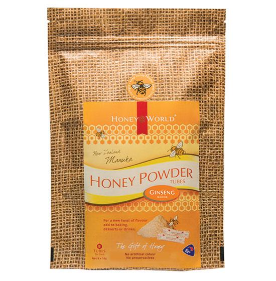 Manuka and Ginseng Honey Powder Tubes