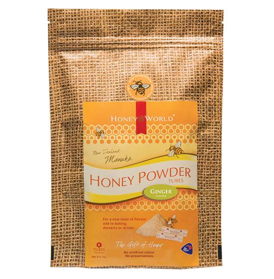 Manuka and Ginger Honey Powder Tubes