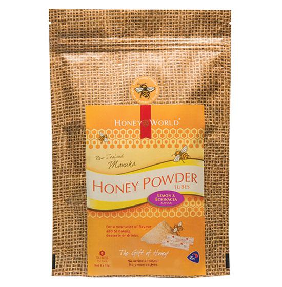 Manuka Lemon and Echinacea Honey Powder Tubes